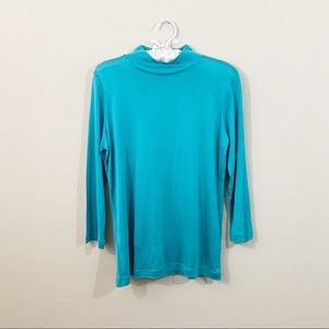 WinterSilks Silk Turtle Neck 3/4 Sleeve Base Layer